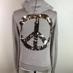 Victoria's Secret Pink Peace Sign Hoodie